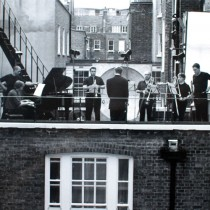 Xenakis's EONTA on the rooftop of the Architectural Association, London